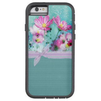 Cute Girly Polka Dots, Blooming Flowers Tough Xtreme iPhone 6 Case