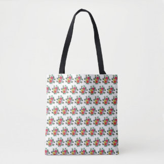 Cute girly red yellow and green Tote bag