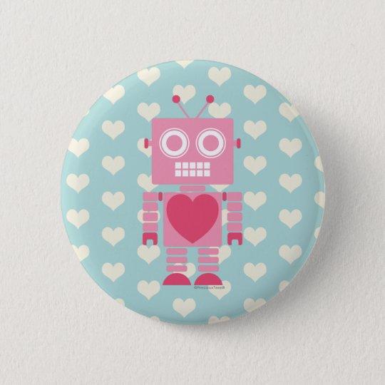 Cute Girly Robot 2 Inch Round Button