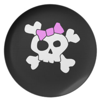 Cute Girly Skull Plate