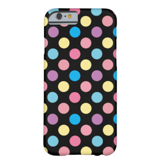 Cute Girly Soft Pastel Colors Polka Dots Pattern Barely There iPhone 6 Case