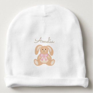 Cute Girly Sweet Adorable Baby Bunny Rabbit Girls Baby Beanie