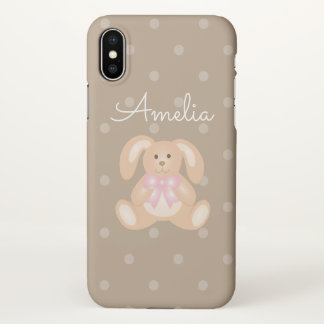 Cute Girly Sweet Adorable Baby Bunny Rabbit iPhone X Case