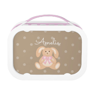 Cute Girly Sweet Adorable Baby Bunny Rabbit Kids Lunch Boxes