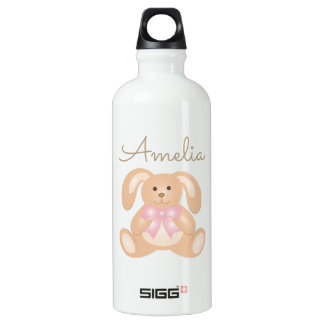 Cute Girly Sweet Adorable Baby Bunny Rabbit Water Bottle