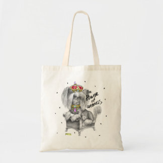 Cute Glamorous Royal Chinese Crested Dog Bag