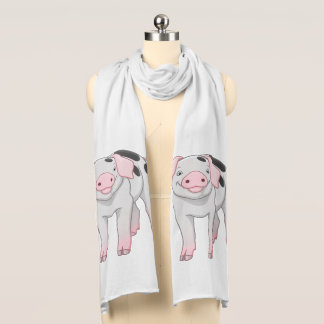 Cute Gloucestershire Old Spots Pig Scarf