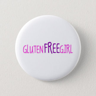 Cute Gluten Free Girl 2 Inch Round Button