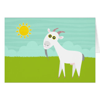 cute goat Card