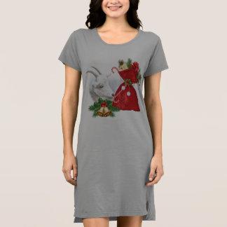 Cute Goat Christmas Sleepshirt Dress