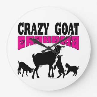 CUTE GOAT | Crazy Goat Grandma Round Wallclock