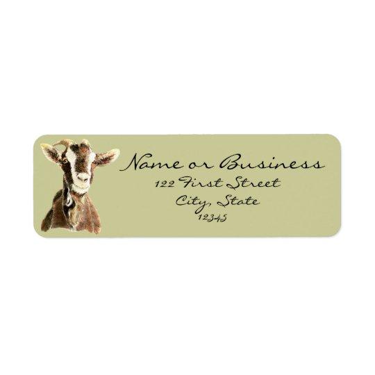 Cute Goat, Farm Animal, Pet Address Label