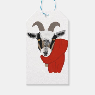 Cute Goat Wearing a Scarf Gift Tags