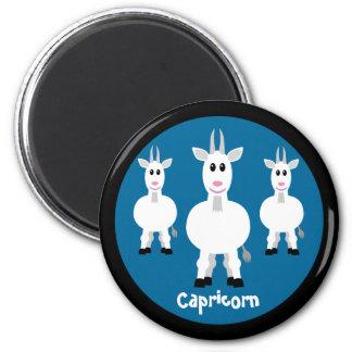 Cute Goats Capricorn Zodiac Sign Custom Blue Magnet