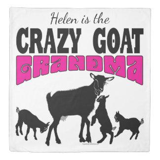 CUTE GOATS | Personalized Crazy Goat Grandma Rever Duvet Cover