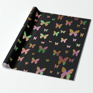 cute gold and rose gold faux foil butterflies