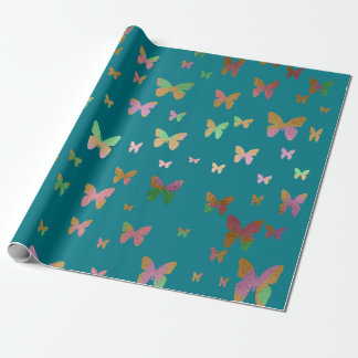 cute gold and rose gold foil butterfly pattern