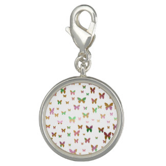 cute gold and rose gold foil butterfly pattern photo charms