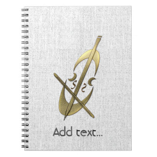 Cute Gold Cello Music Theme Notebook