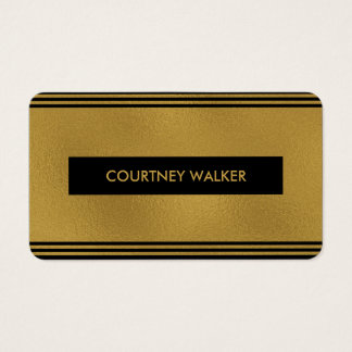 Cute gold foil & black nameplate business cards
