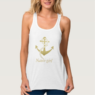 Cute Gold Nautical Anchor Top