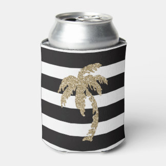 Cute Gold Palm Tree Can Cooler Beer Sleeve