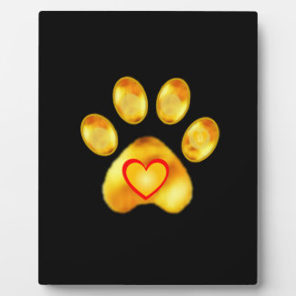 Cute Gold Paw Plaque