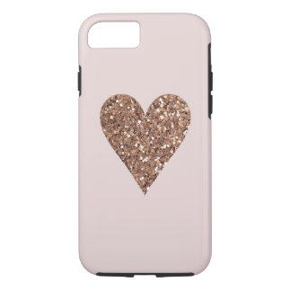 cute gold/pink heart case
