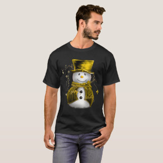 Cute Gold Snowman T-Shirt
