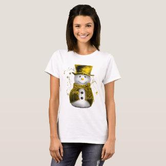 Cute Gold Snowman T-Shirt