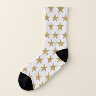 Cute Gold Stars Socks