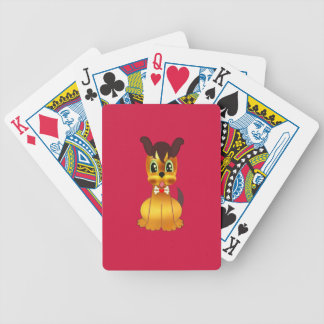 Cute Golden Dog Bicycle Playing Cards
