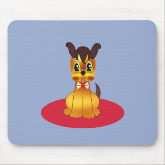 Cute Golden Dog Mouse Pad