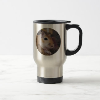 Cute Golden Pet Gerbil Travel Mug