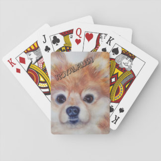CUTE GOLDEN POMERANIAN PLAYING CARDS