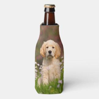 Cute Golden Retriever Dog Puppy Face Photo Pet --- Bottle Cooler