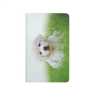 Cute Golden Retriever Puppy Dog Green Grass Journal
