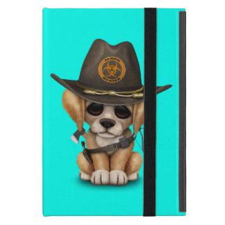 Cute Golden Retriever Puppy Zombie Hunter iPad Mini Cover