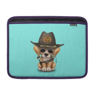Cute Golden Retriever Puppy Zombie Hunter Sleeve For MacBook Air