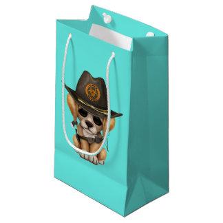 Cute Golden Retriever Puppy Zombie Hunter Small Gift Bag
