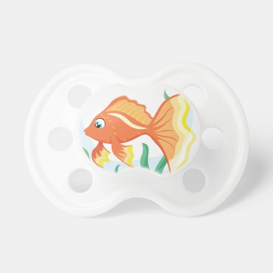 Cute goldfish im glass pacifier