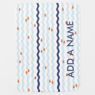 Cute Goldfish Name Blanket