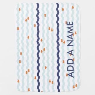 Cute Goldfish Name Blanket Baby Blankets
