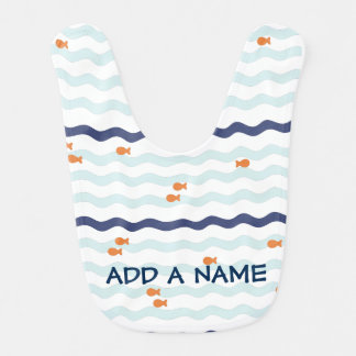 Cute Goldfish Pattern Customized Bib
