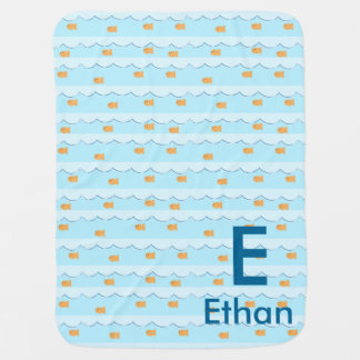 Cute Goldfish Personalized Baby Blanket