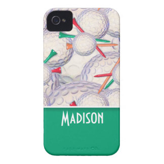 Cute Golf Balls & Tees Pattern iPhone 4 Case-Mate Cases