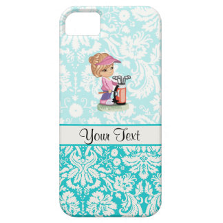 Cute Golf; Damask Pattern iPhone 5 Cover
