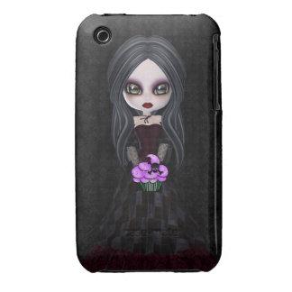 Cute Goth Girl & Cupcake iPhone 3 Case