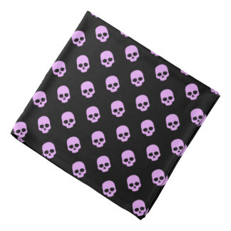 Cute Goth Pink Skulls Bandana