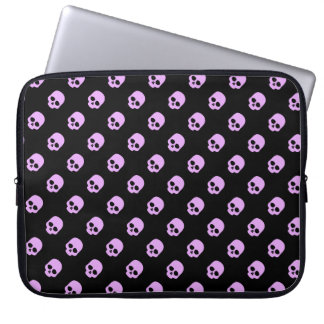 Cute Goth Pink Skulls Laptop Computer Sleeves